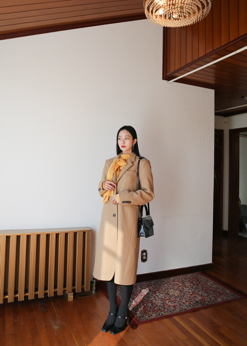 WOOL MAXI COAT(BEIGE, BLACK 2COLORS!)