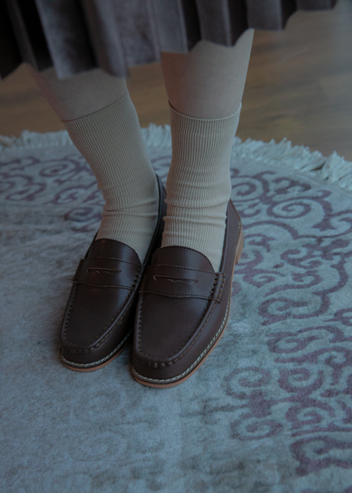 CLASSIC PENNY LOAFER(WHITE, YELLOW, RED, BROWN, GREY, BLACK 6COLORS!)