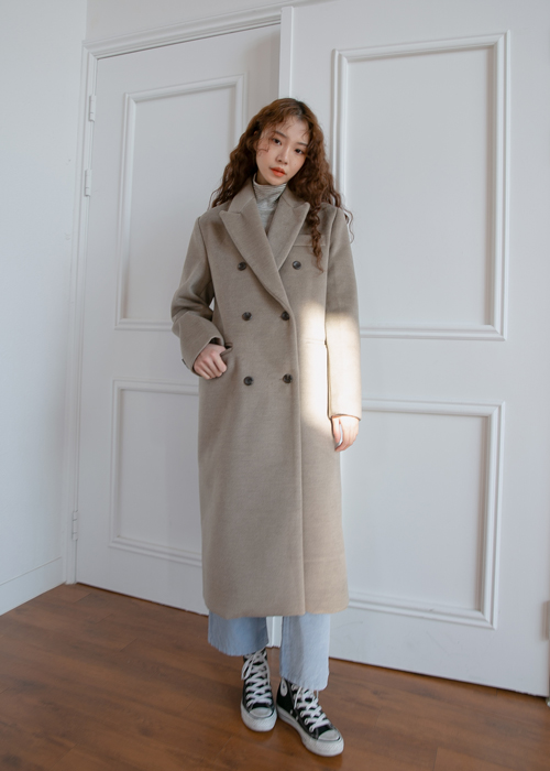 JANE DOUBLE COAT(BEIGE, BLACK 2COLORS!)