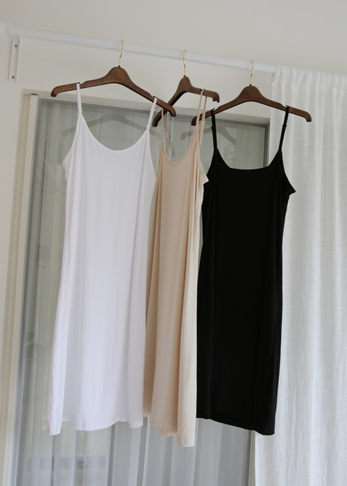 BASIC INNER DRESS(WHITE, BEIGE, BLACK 3COLORS!)