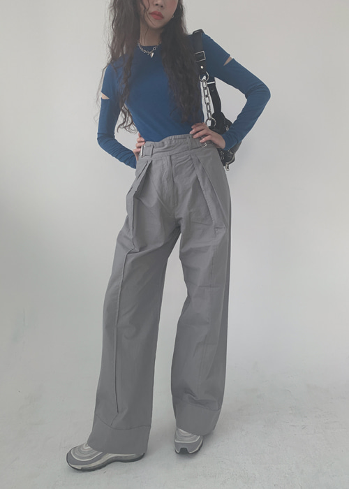 MANS BELTED CARGO PANTS(BLUE, GREY, BLACK 3COLORS!)(M사이즈 추가!)