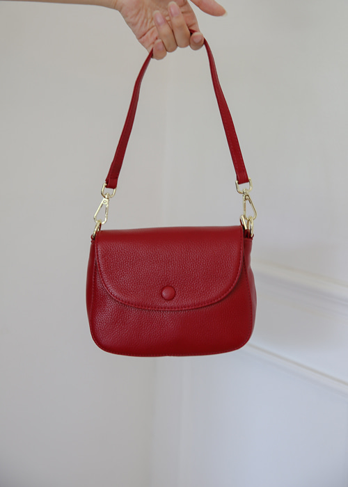 VIVIAN COWHIDE SHOULDER BAG(RED, GREY, BLACK 3COLORS!)