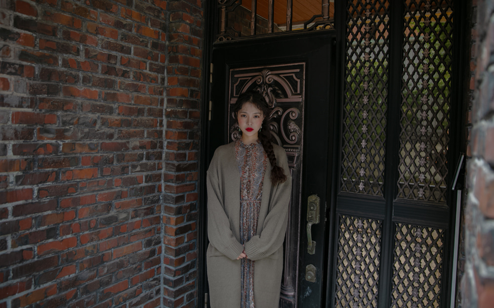 NO BUTTON POCKET LONG CARDIGAN(BEIGE, KHAKI, BLACK 3COLORS!)