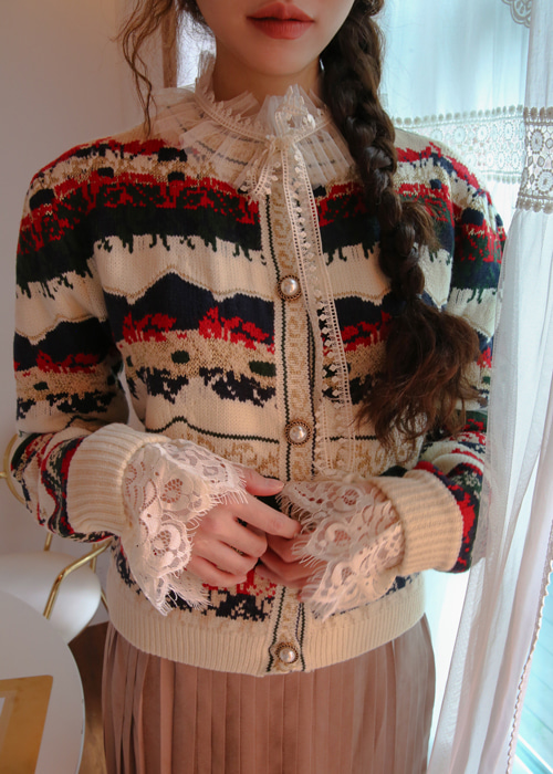 WARM VINTAGE CARDIGAN(IVORY, NAVY 2COLORS!)
