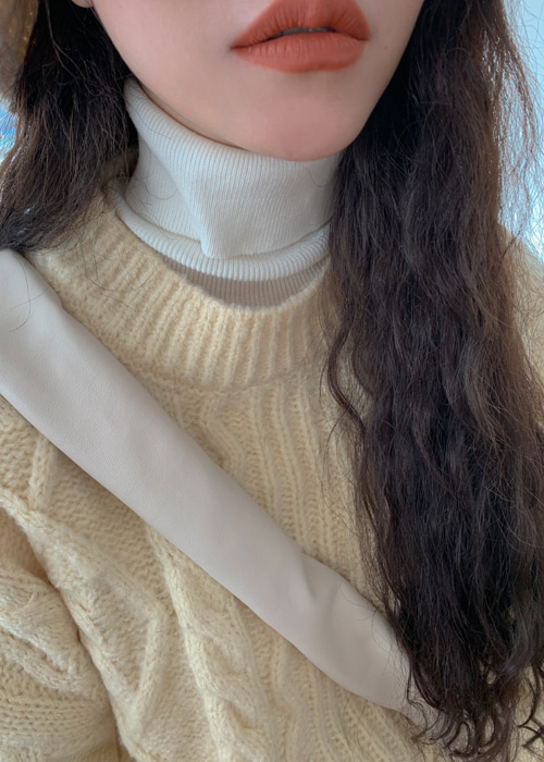 LOOSE TURTLE NECK KNIT(10 COLORS!)