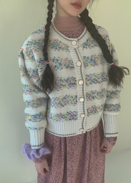 CANDY VINTAGE CARDIGAN(IVORY, BLACK 2COLORS!)