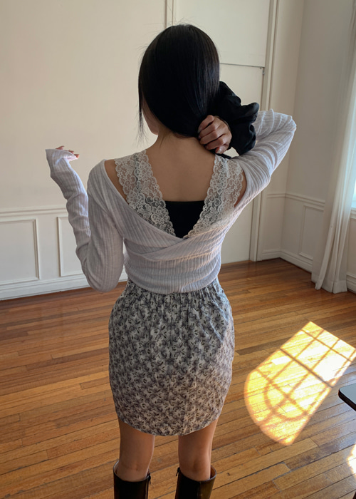 NANA LACE WRAP TEE(WHITE, YELLOW 2COLORS!)