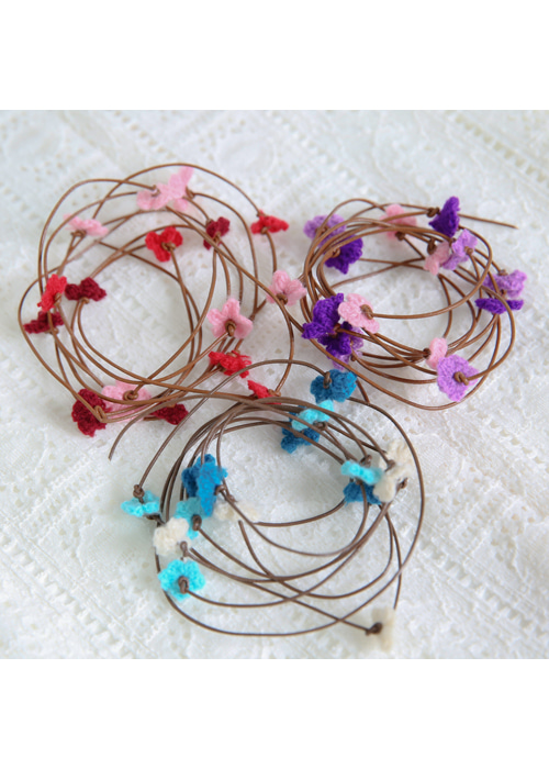 BLOSSOM NECKLACE(RED, BLUE, PURPLE 3COLORS!)