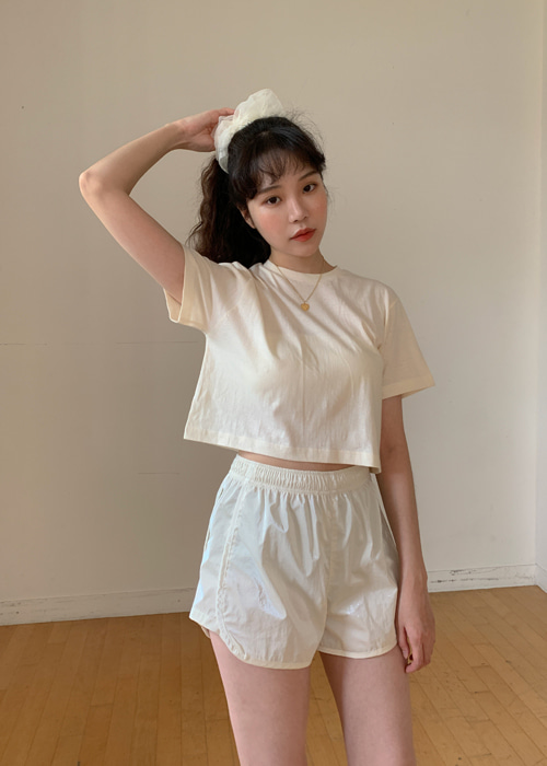 LIGHT BOXY CROP T(10COLORS!)