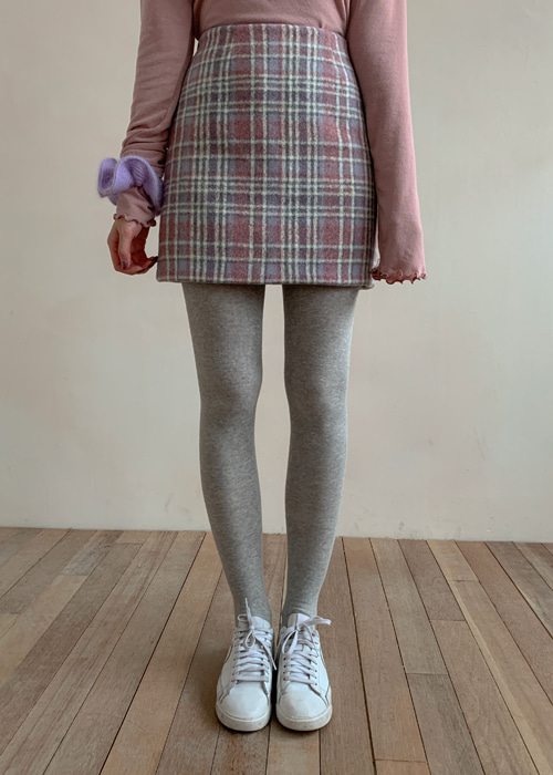 WOOL PASTEL CHECK MINI SKIRT(MINT, PINK 2COLORS!)