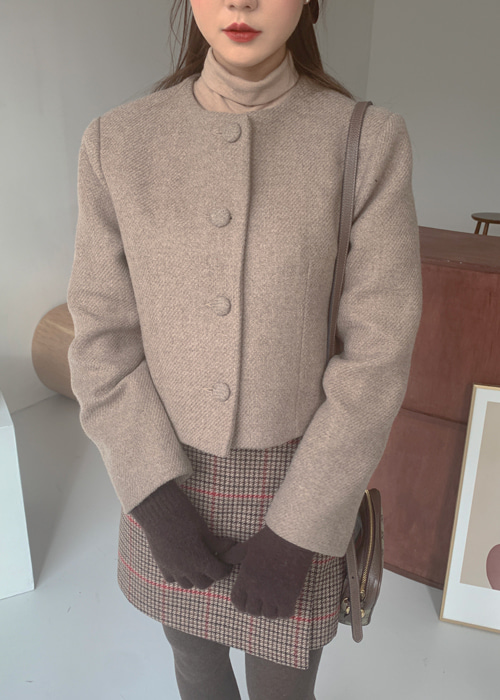 TWEED VINTAGE JACKET(IVORY, BROWN 2COLORS!)