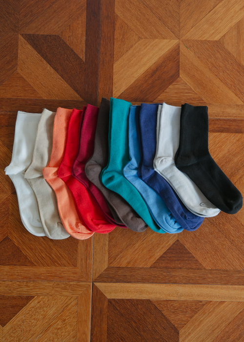 SOFT BASIC SOCKS(11 COLORS!)