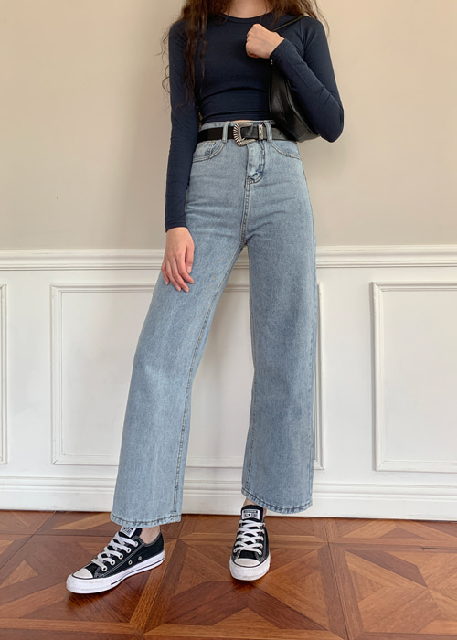 VINTAGE WASHING STRAIGHT DENIM PANTS(LIGHT WASH, DARK WASH, BLACK WASH 3COLORS!)