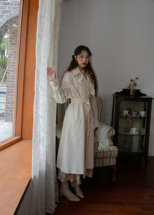 FRENCH OVER FIT LONG COAT(IVORY, BEIGE, BROWN, BLACK 4COLORS!)