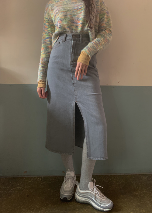 90'S VINTAGE DENIM LONG SKIRT(4COLORS!)