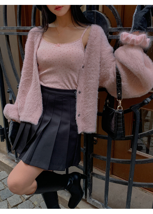 FUR LOOSE CARDIGAN(IVORY, PINK, BLACK 3COLORS!)