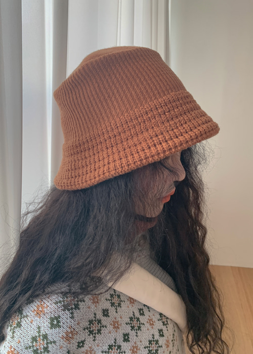 KNIT BUCKET HAT(6 COLORS!)