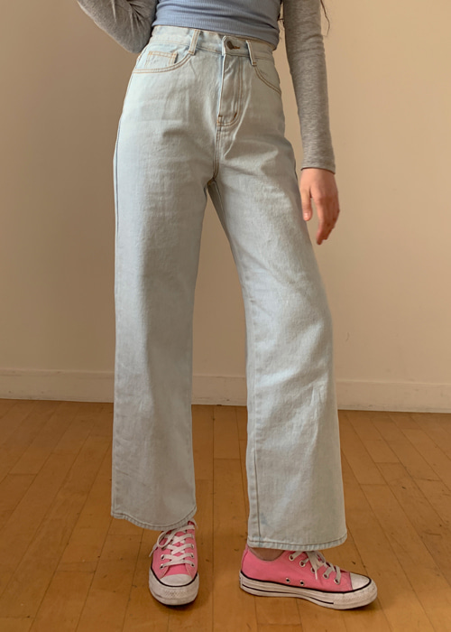 90'S WIDE DENIM PANTS(ICE, LIGHT WASH, MEDIUM WASH, DARK WASH, LIGHT GREY, DARK GREY, BLACK 7COLORS!)