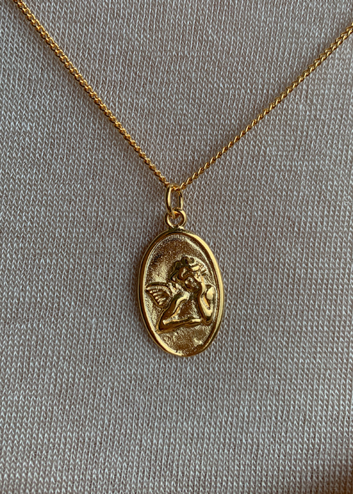 ANGEL ANTIQUE NECKLACE(GOLD, SILVER 2COLORS!)