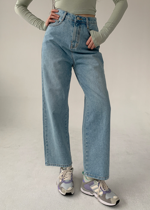 80'S HIGH-WAIST DENIM PANTS(LIGHT, DARK, GREY, BLACK WASH 5COLORS!)