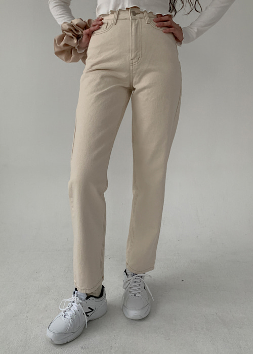 HIGH-WAIST STRAIGHT PANTS