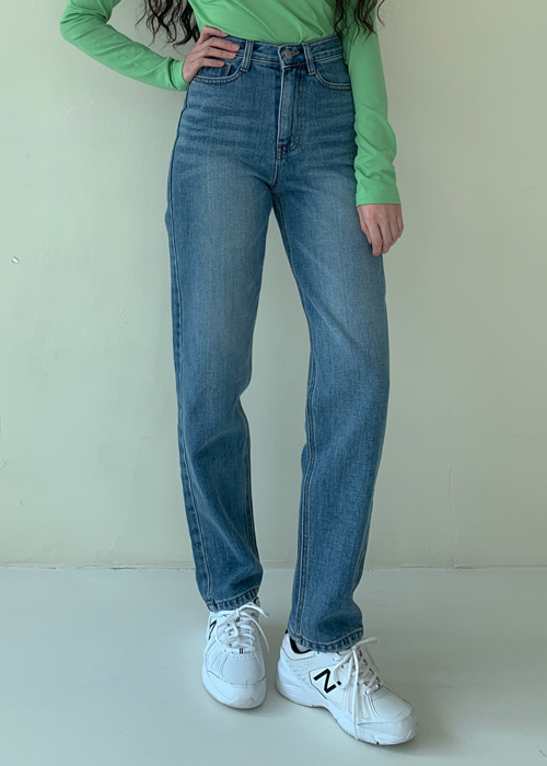 80'S STRAIGHT JEAN(BLUE, BLACK WASH 2COLORS!)