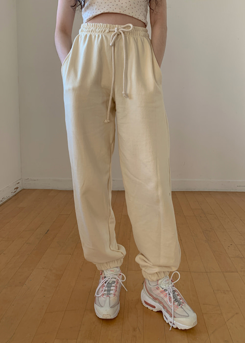 SOFT JOGGER PANTS(LIGHT OAT, CREAM, BEIGE, PINK, SKY BLUE, BLACK 6COLORS!)