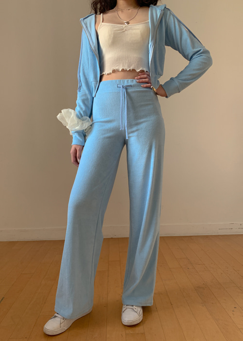 90'S PERRY WIDE PANTS(BEIGE, PINK, SKY BLUE, BLACK 4COLORS!)