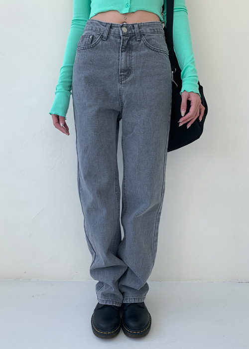 VINTAGE DENIM SEMI STRAIGHT PANTS(BLUE WASH, GREY WASH 2COLORS!)