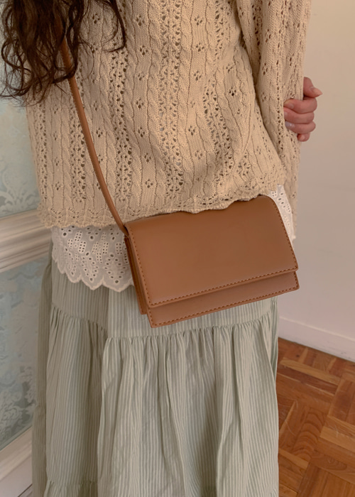 BASIC SQUARE MINI BAG(IVORY, PINK, MINT, CAMEL, BLACK 5COLORS!)