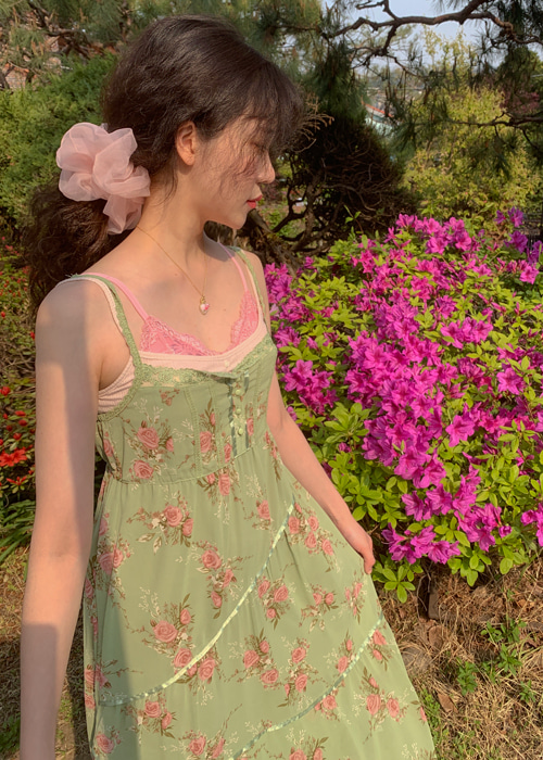 MARTINI SLIP DRESS(PINK, GREEN 2COLORS!)