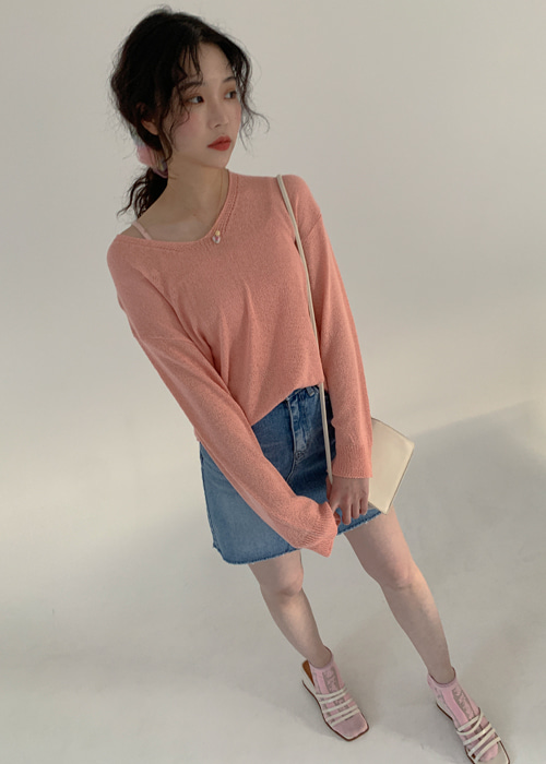 WENDY V NECK LOOSE KNIT(9COLORS!)