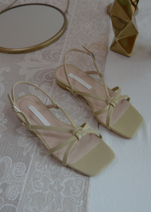CLASSIC VINTAGE MOOD SANDAL(IVORY, BROWN, OLIVE, BLACK 4COLORS!)