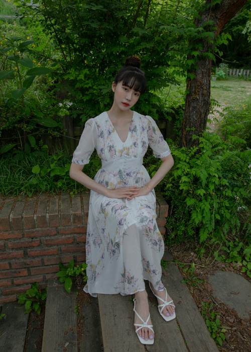 ALYSSA FLORAL CHIFFON DRESS