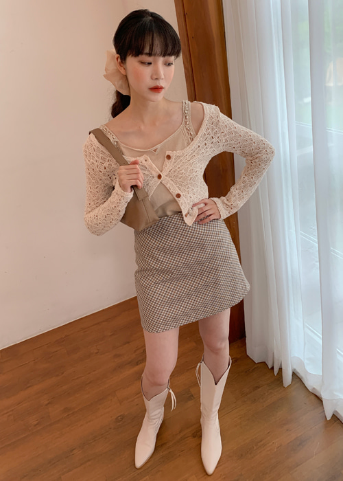 PUNCHING KNITTING CARDIGAN(IVORY, BEIGE, BLACK 3COLORS!)