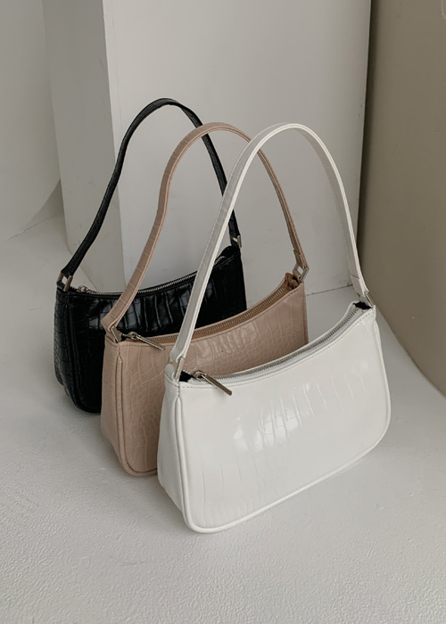 LEATHER MINI SHOULDER BAG(WHITE, BEIGE, BLACK 3COLORS!)