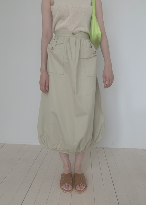 CARGO BANDING SKIRT(BEIGE, KHAKI, BLACK 3COLORS!)