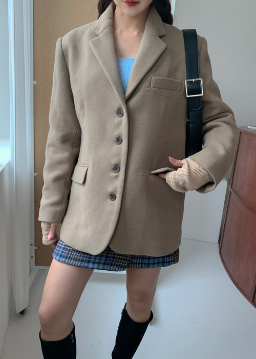 BOYFRIEND 4BUTTON JACKET(BEIGE, DARK NAVY 2COLORS!)