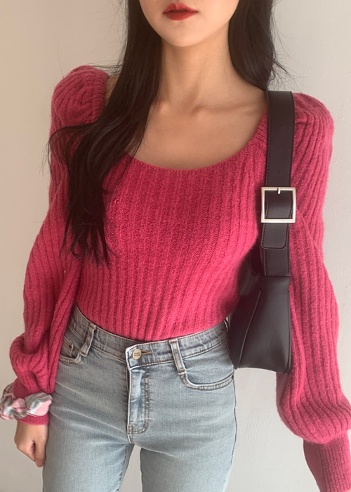 MAGENTA WARM KNIT(PINK, GREY 2COLORS!)