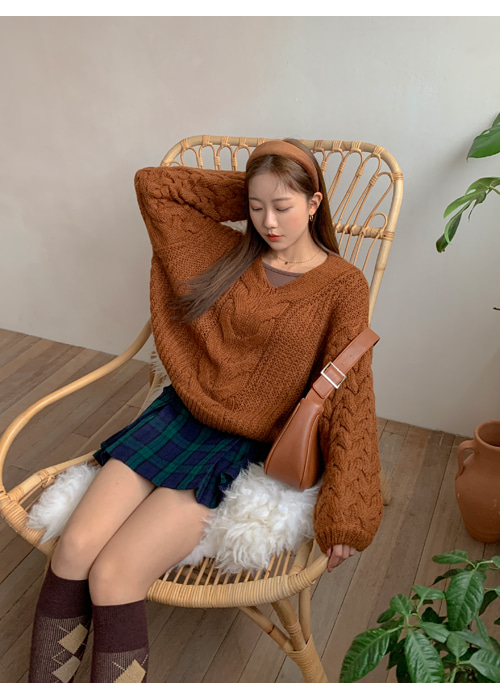 MOHAIR TWIST LOOSE KNIT(IVORY, BEIGE, BROWN 3COLORS!)