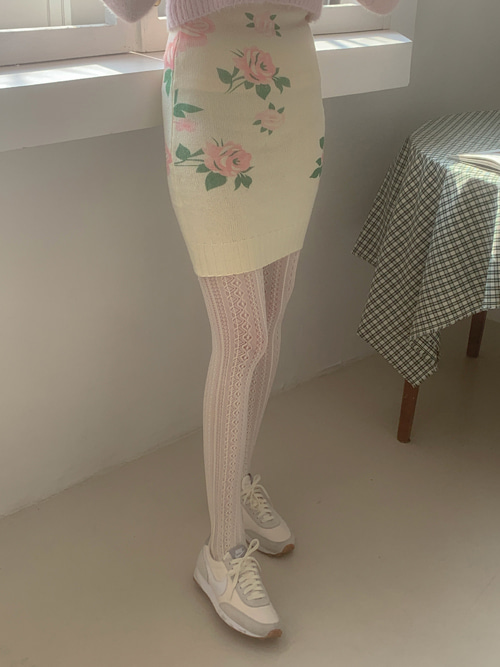 VINTAGE LACE STOCKING(IVORY, BLACK 2COLORS!)