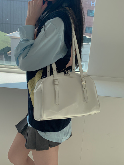 BOSTON BAG(WHITE, BLACK 2COLORS!)