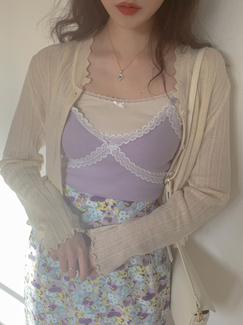 BUSTIER LACE UP TOP(WHITE, SKYBLUE, VIOLET, BLACK 4COLORS!)