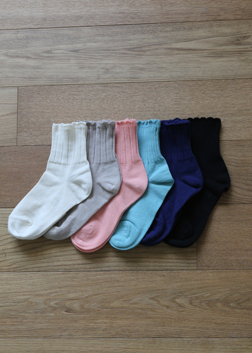 DOWNY WARM SOCKS(IVORY, BEIGE, PINK, MINT, NAVY, BLACK 6COLORS!)