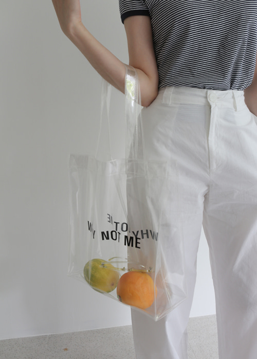 WHY NOT ME PVC BAG