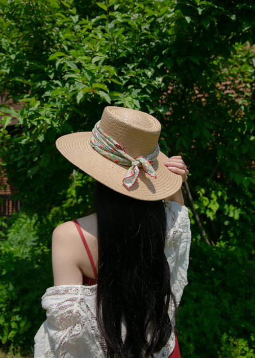 WIDE STRAW HAT(IVORY, BEIGE 2COLORS!)