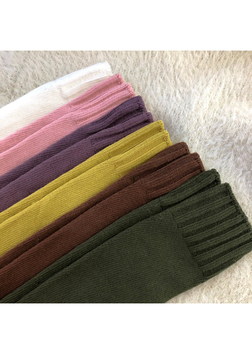 WARM COLOR KNEE SOCKS(IVORY, PINK, PURPLE, MUSTARD, CAMEL, BROWN, KHAKI, GREY, BLACK 9COLORS!)