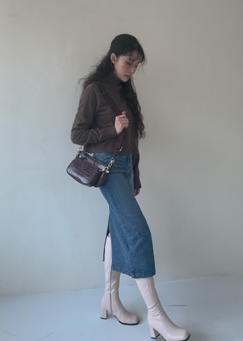 90'S DENIM SLIM LONG SKIRT