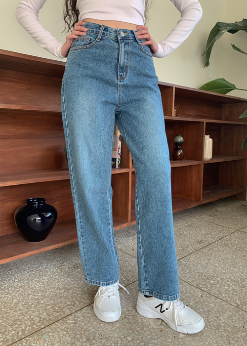 80'S HIGH-WAIST DENIM PANTS(MEDIUM WASH)