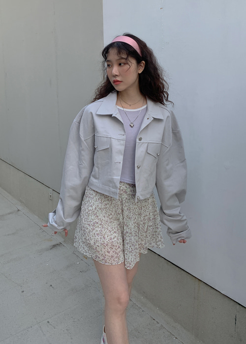MILKY CROP JACKET(IVORY, PINK, MINT 3COLORS!)